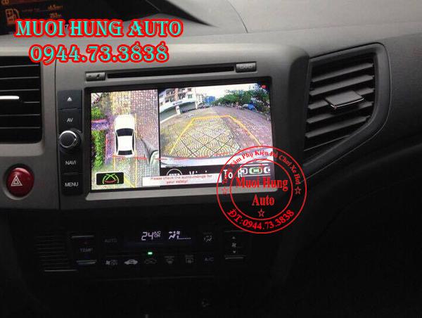 Camera 360 độ cho xe Honda City 2016