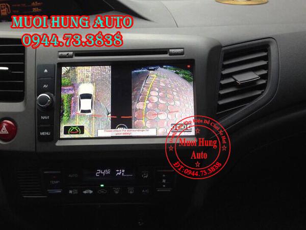 lắp đặt camera 360 chính hãngcho xe Honda City