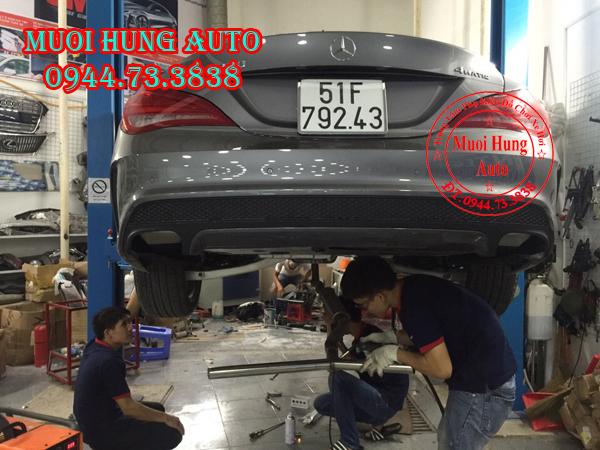 xe Mercedes CLA250 đươc độ pô có tiếng tại HCM