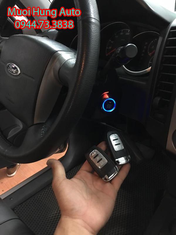 gắn chìa khóa thông minh Start Stop cho xe Ford Ranger