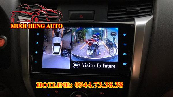gắn camera 360 độ cho xe ô tô