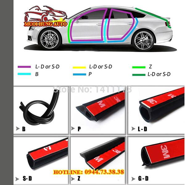 Gioăng cao su chống ồn cho xe ô tô