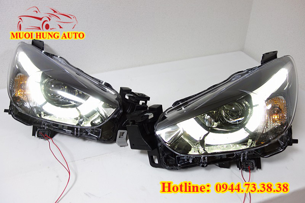 độ đèn xenon xe Mazda 2