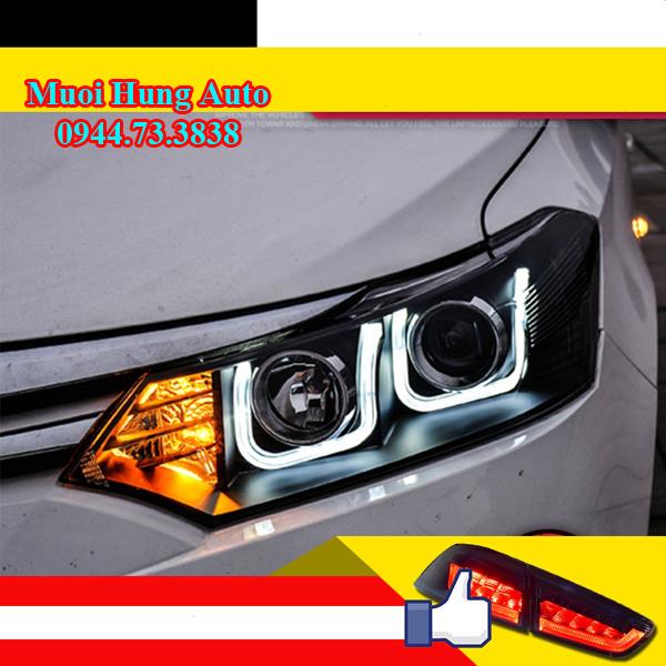 Độ đèn xe Toyota Vios giá rẻ tại TPHCM