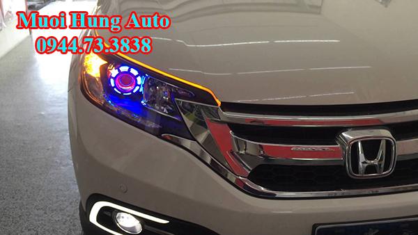 gắn đèn pha xe Honda CRV