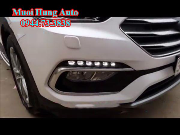 độ Led đèn cản cho xe Hyundai Santafe 2017
