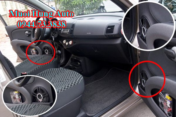 lắp đặtloa sub xe Honda Civic 2017