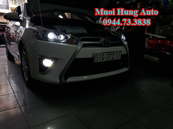 đèn led và xenon xe Toyota Yaris