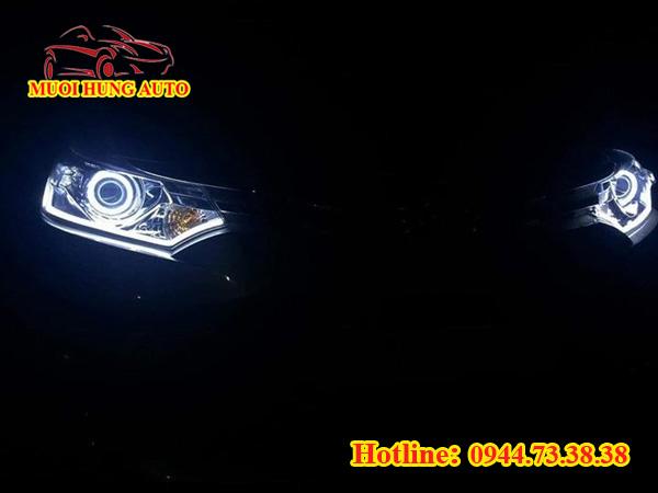 Độ đèn led bi xenon xe Toyota Vios