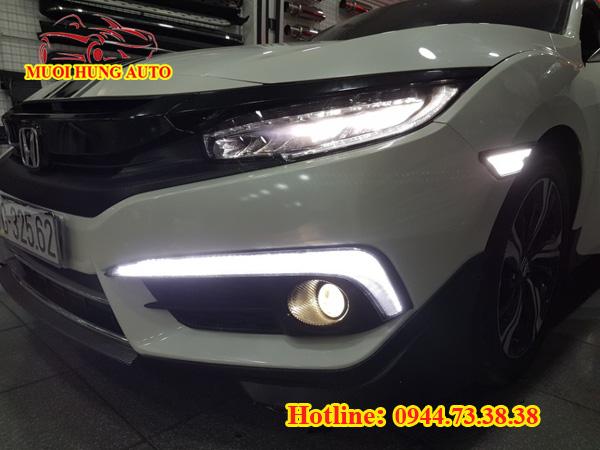 độ đèn led cản Honda Civic cao cấp
