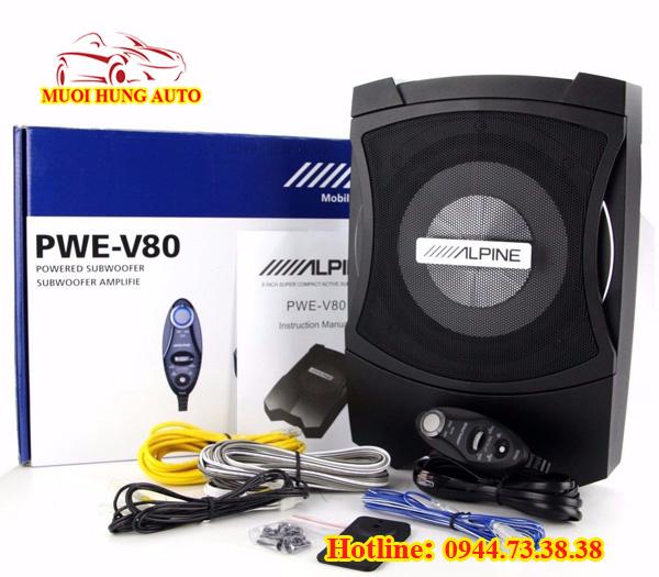lắp đặt sub ALpine PWE-V80 cho Mazda CX5