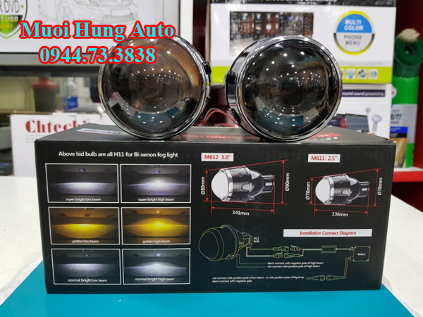 độ đèn Led và Xenon xe Nissan Xtrail siêu sáng