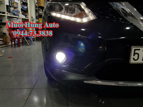 gắn bóng đèn Led và Xenon xe Nissan Xtrail2018 tại HCM