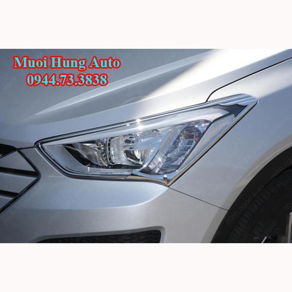ốp viền đèn trước sau xe Hyundai Santafe 2017