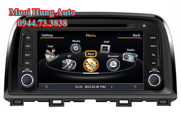 Màn hình DVD Mazda CX5 chính hãng