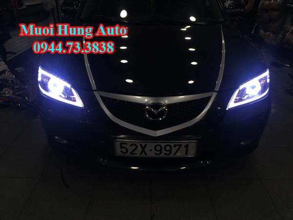 lắp đặt bóng đèn Led và Xenon cao cấp xe Mazda 3
