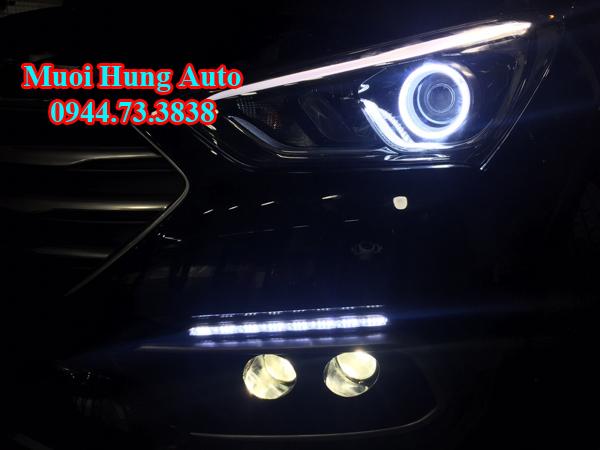 Độ bóng đèn Led xe Hyundai Santafe