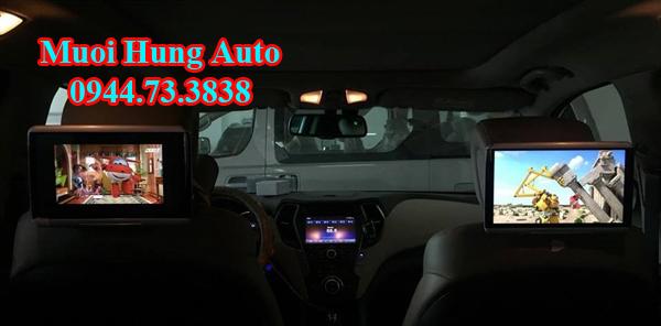 lắp màn hình gối đầu xe Hyundaitại TPHCM