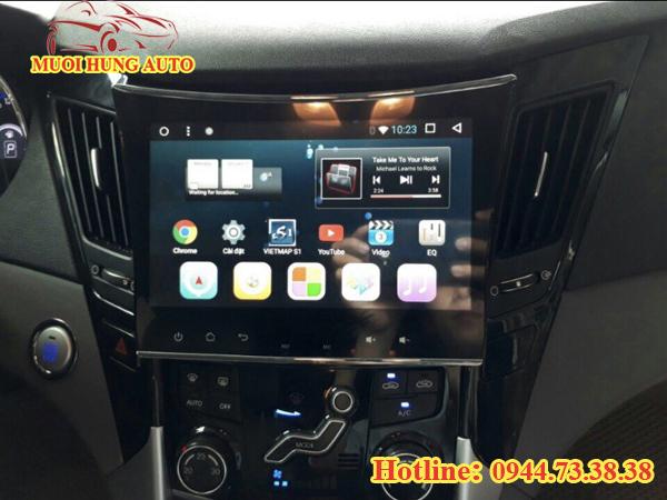 lắp đặt màn hình DVD Android cho xe Hyundai Sonata 2018 tại Sài Gòn