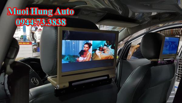 lắp đặt màn hình gối đầu 10 inch Nissan chất lượng cao