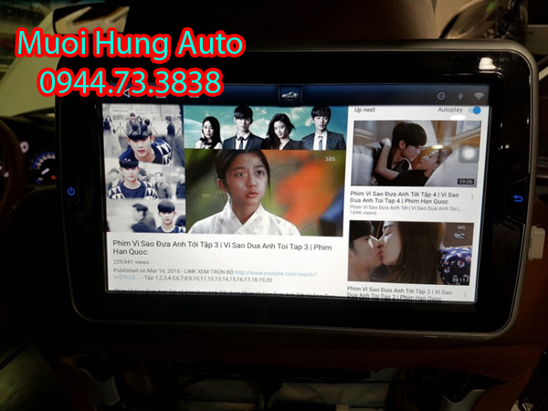 lắp màn hìnhgối đầu Android Xe Hyundai Santafe2018