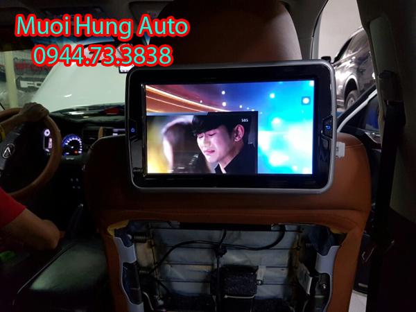 màn hình gối đầu Android cho xe Hyundai Santafe 2018