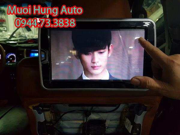 lắp đặtmàn hình gối đầu Android cho xe Hyundai Tucson2018 tại HCM