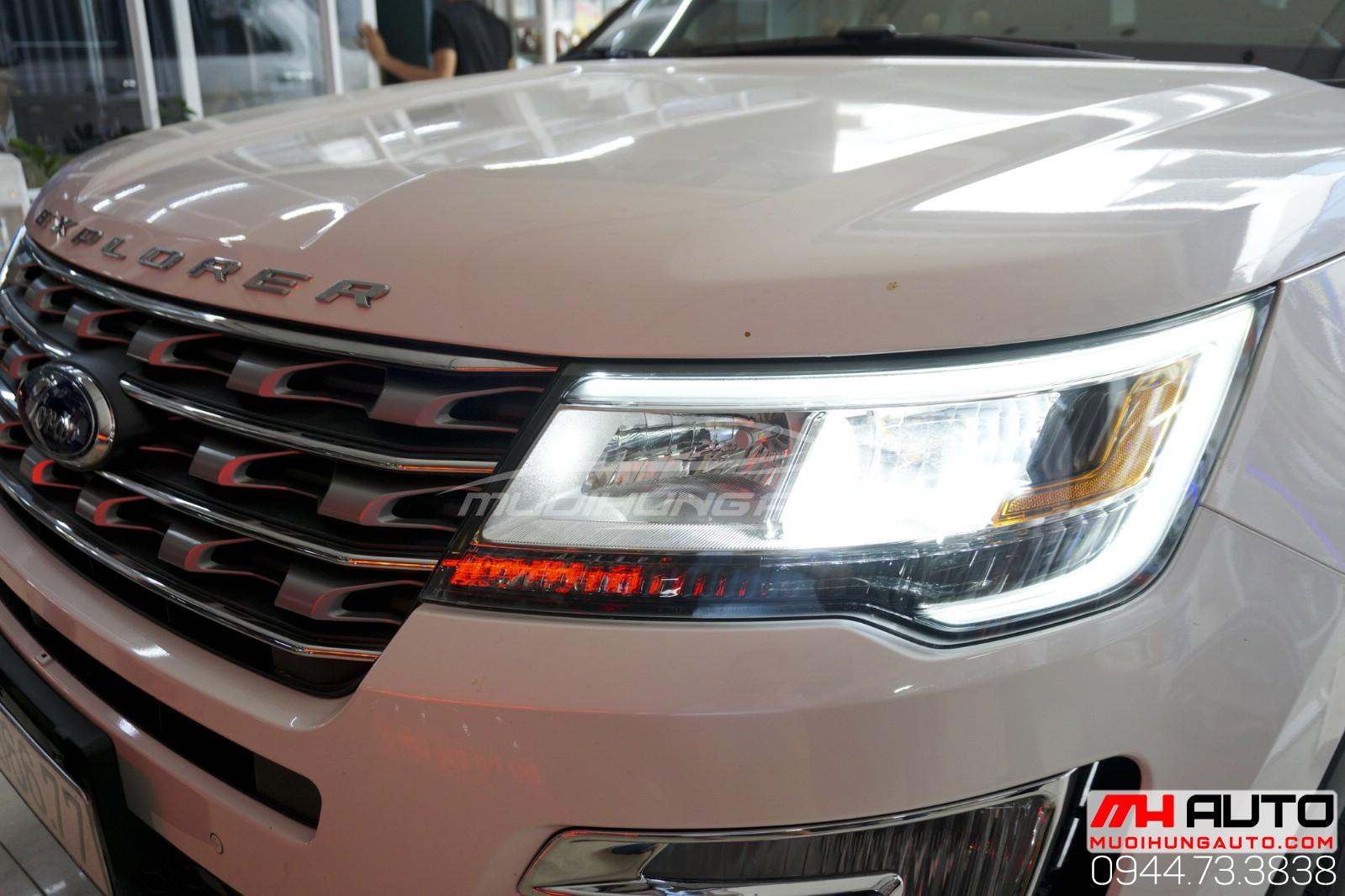 độ đèn xe Ford Explorer