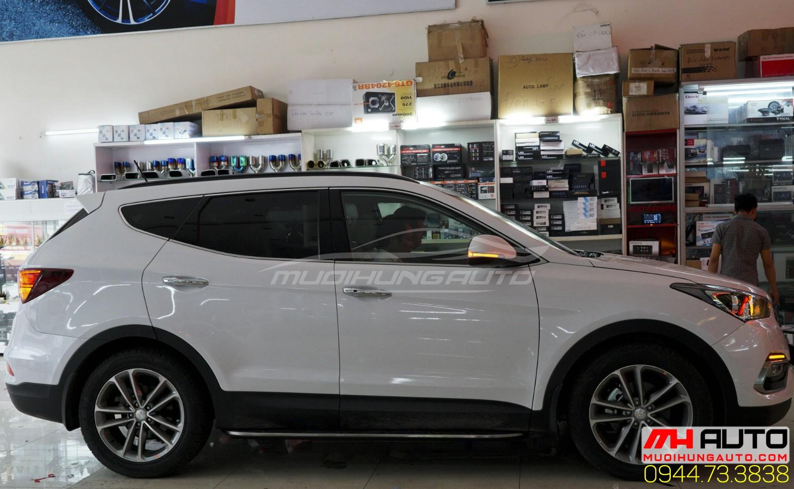 độ Led cản Hyundai santafe