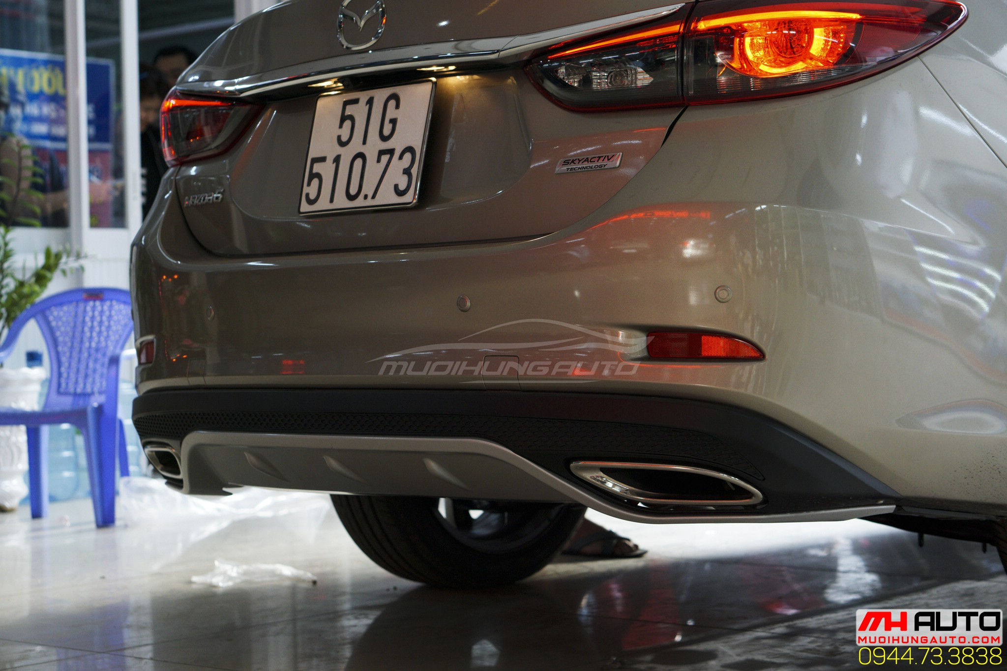 Độ líp pô Mazda 6 đẹp