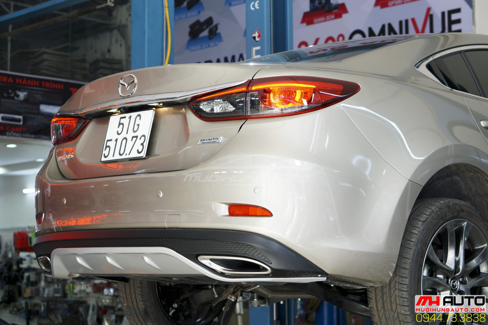 Độ pô on off Mazda 6