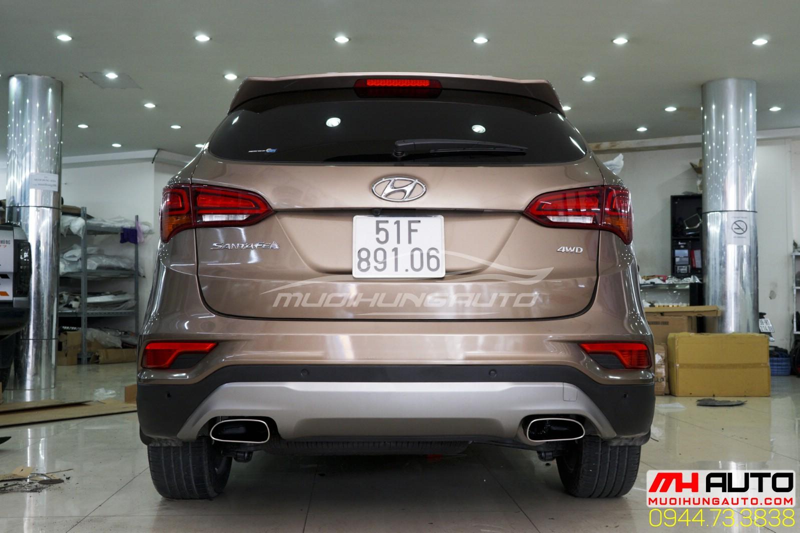 độ pô xe Hyundai Santafe