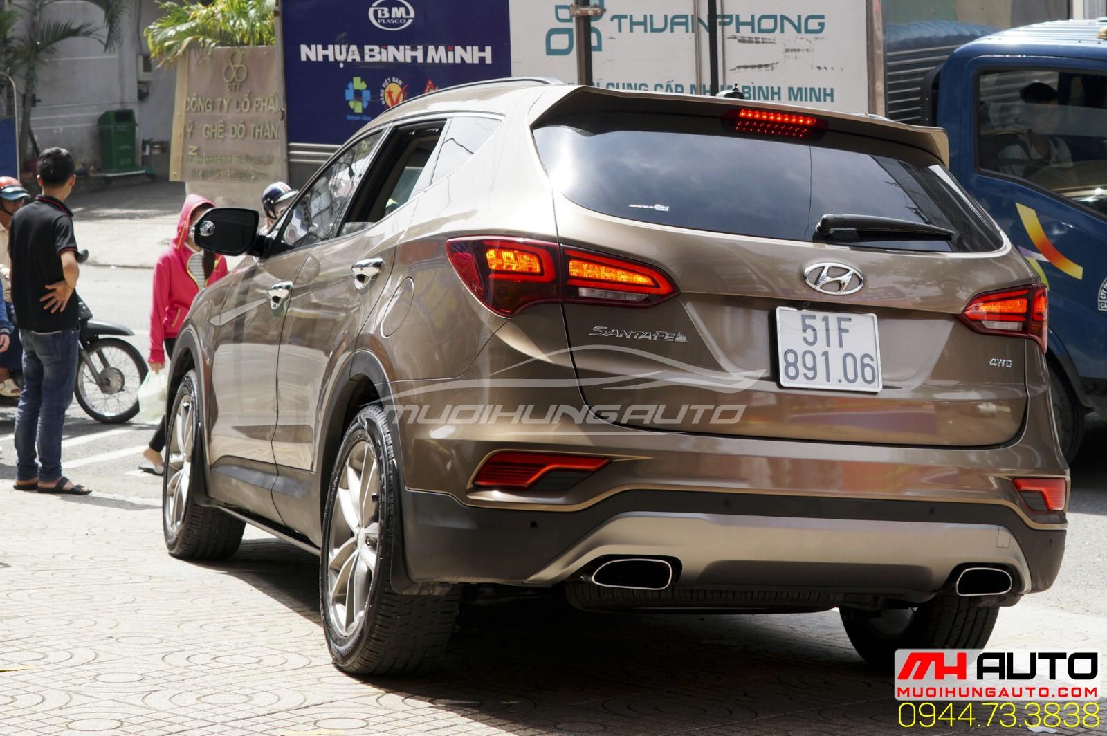 Hyundai Santafe độ pô phong cách
