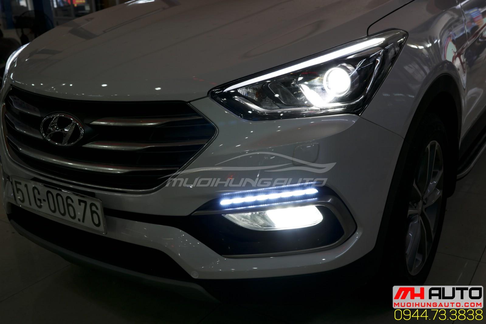 Led cản trái Hyundai santafe
