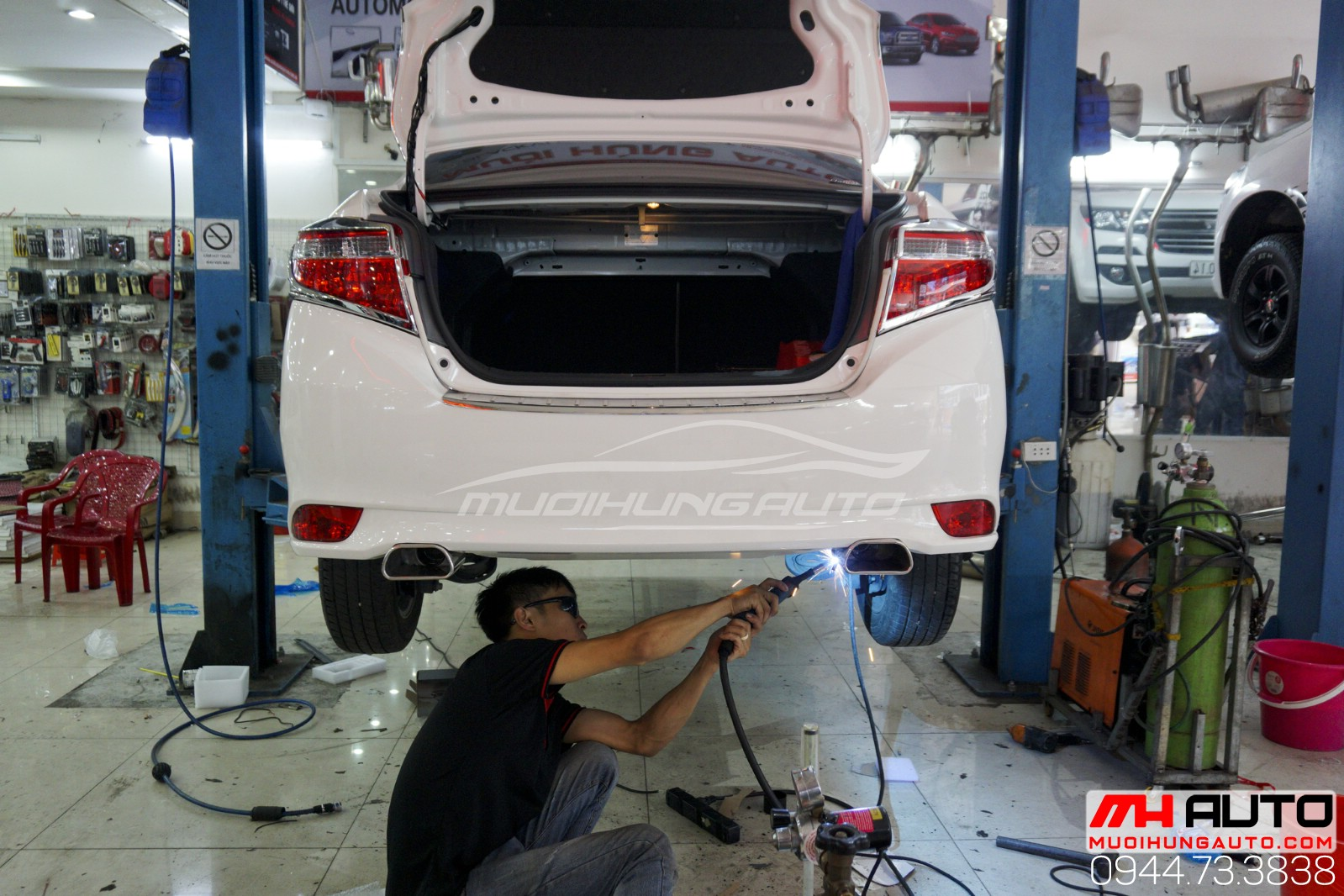 thợ hàn pô xe Toyota Vios