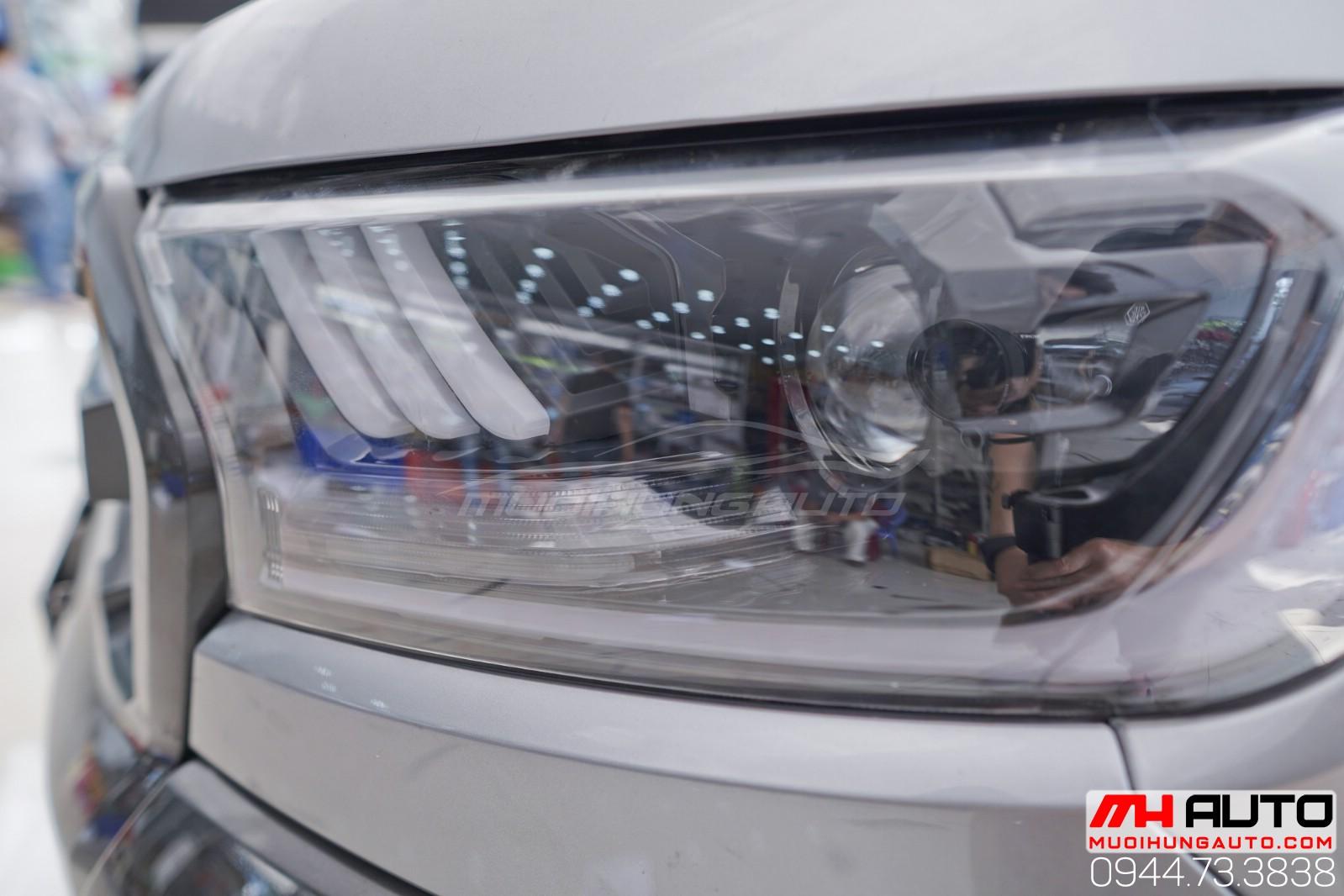 độ đèn Ford Ranger 2018