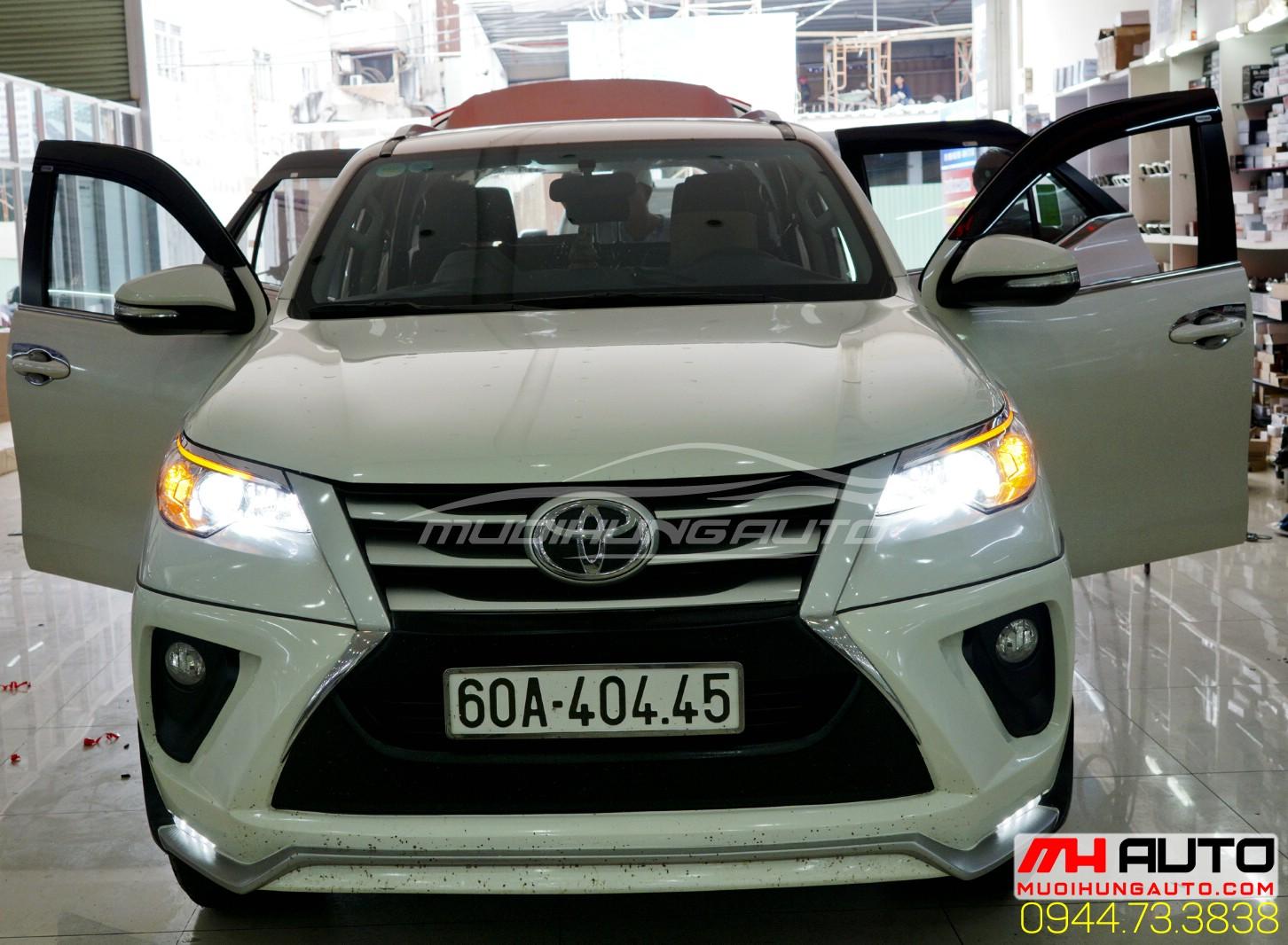 Độ đèn Led xe Toyota Fortuner