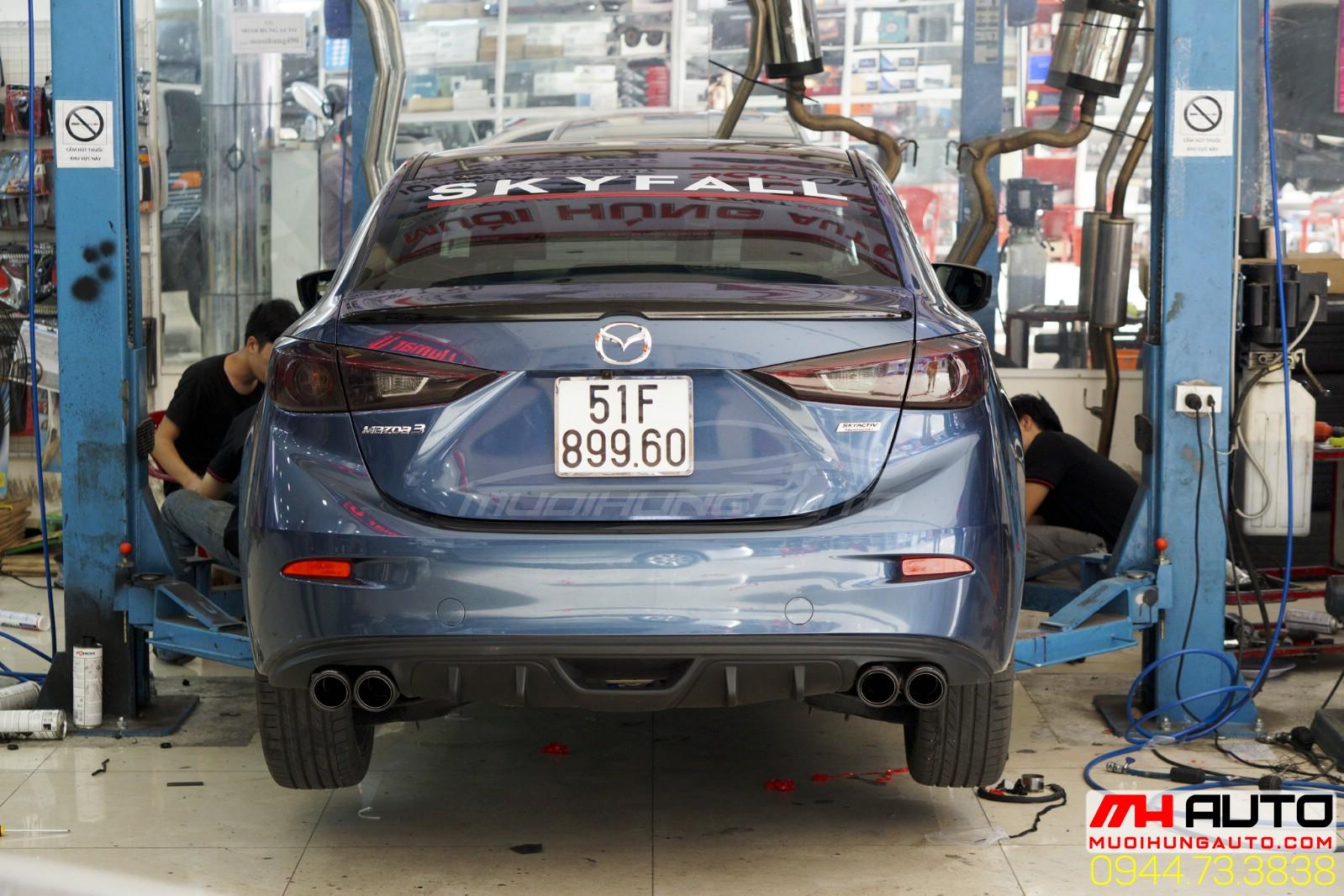 độ pô Akrapovic Mazda 3