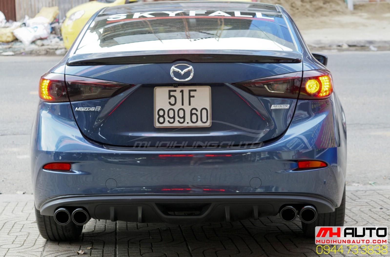 độ pô Mazda 3 đẹp