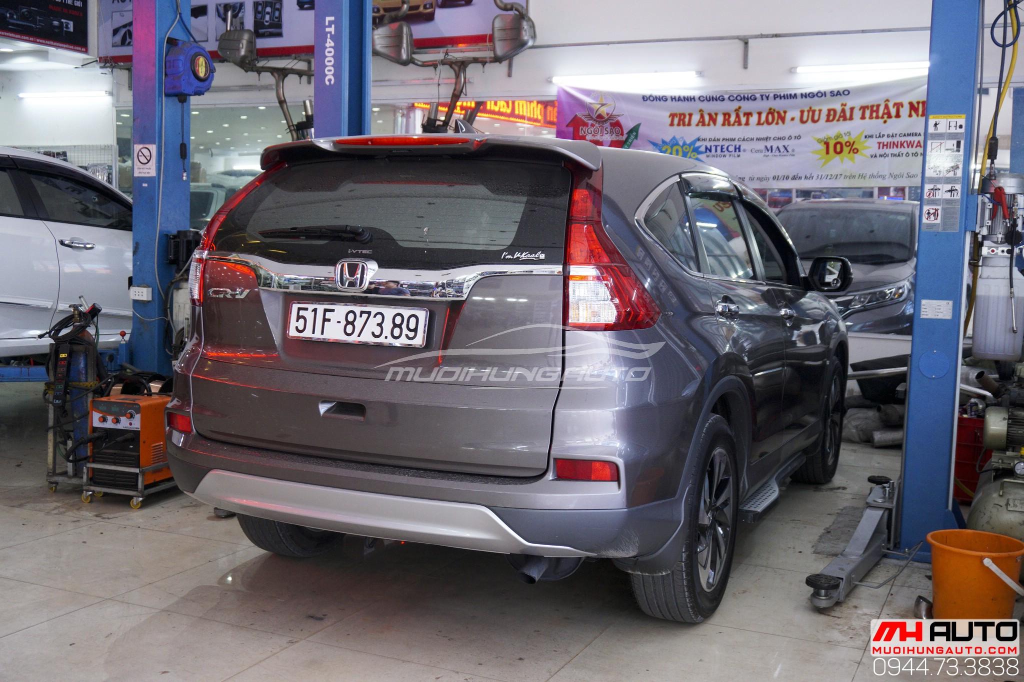 Độ pô cho xe Honda CRV