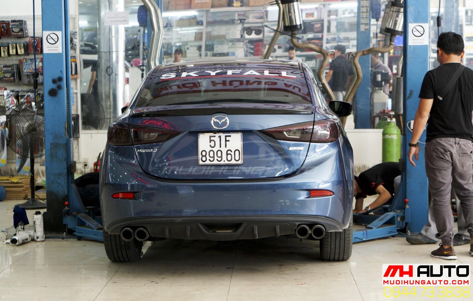 độ pô xe Mazda 3