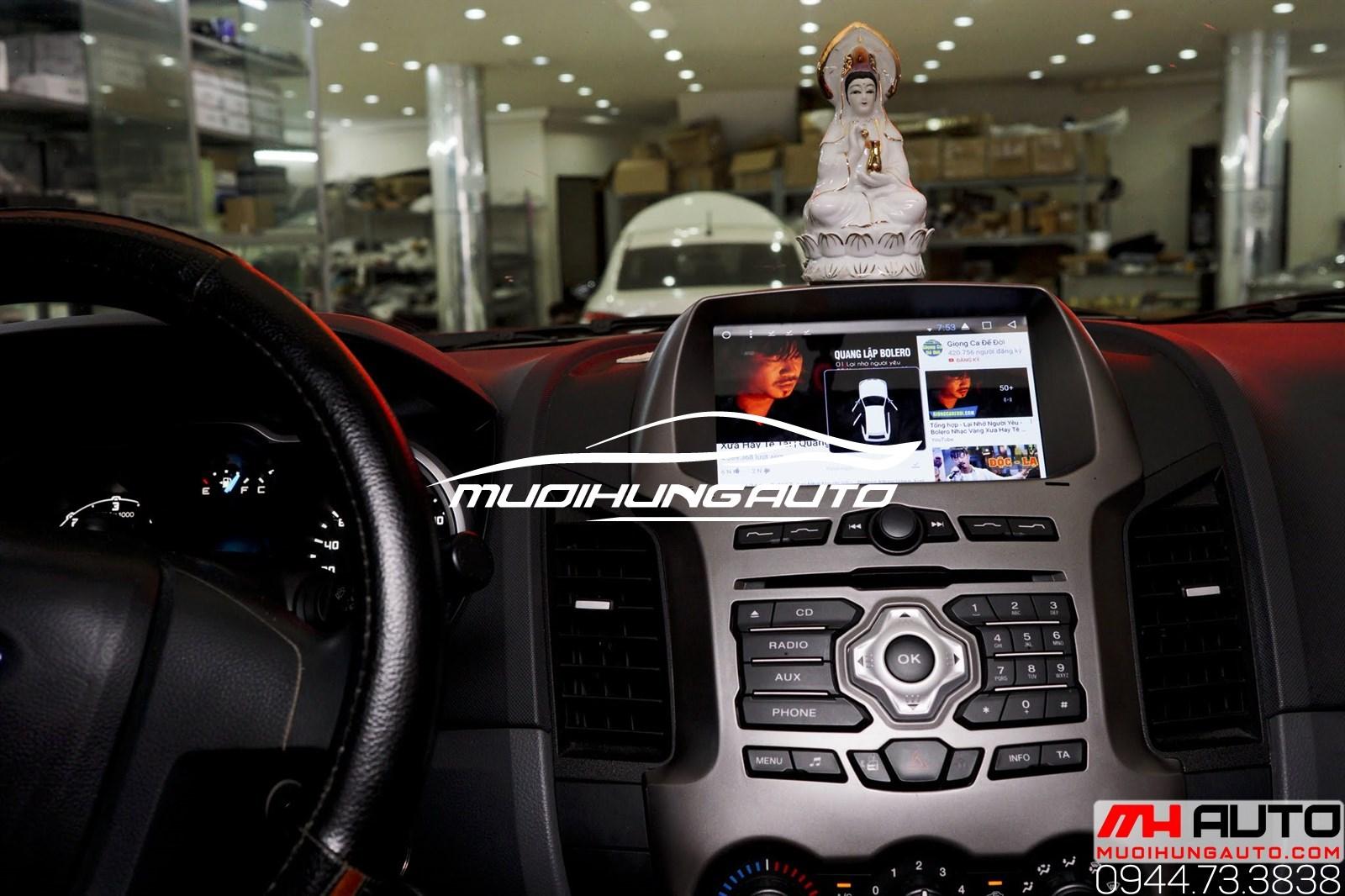Gắn màn hình DVD cho xe Ford Ranger