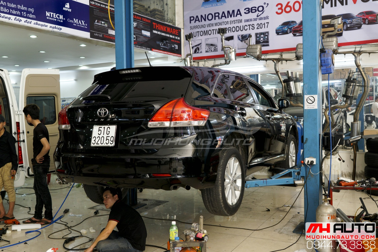 quy trình độ pô Toyota Venza