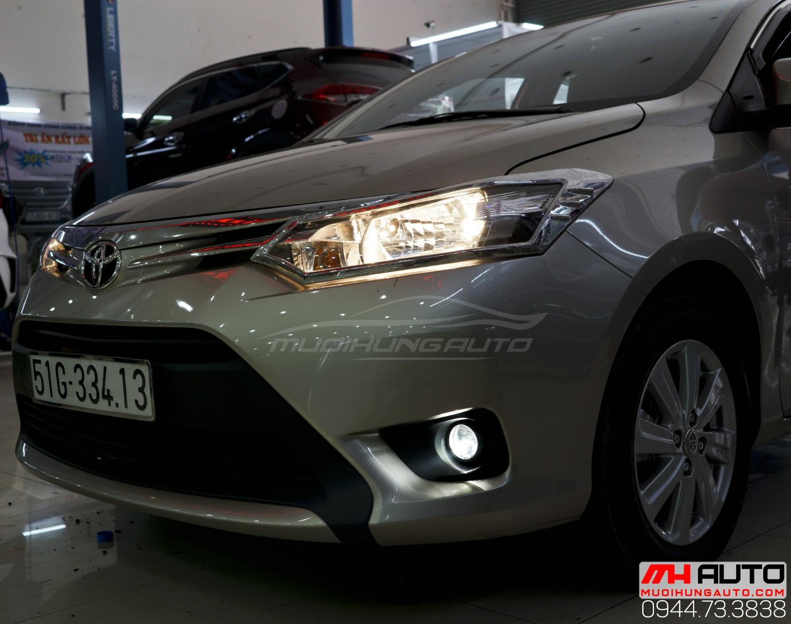 Độ bi xenon cản Toyota Vios đẹp