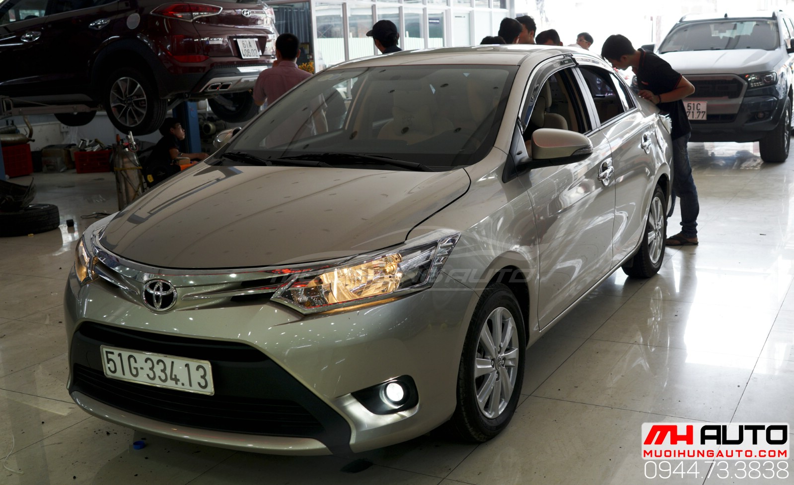 Độ bi xenon cản Toyota Vios