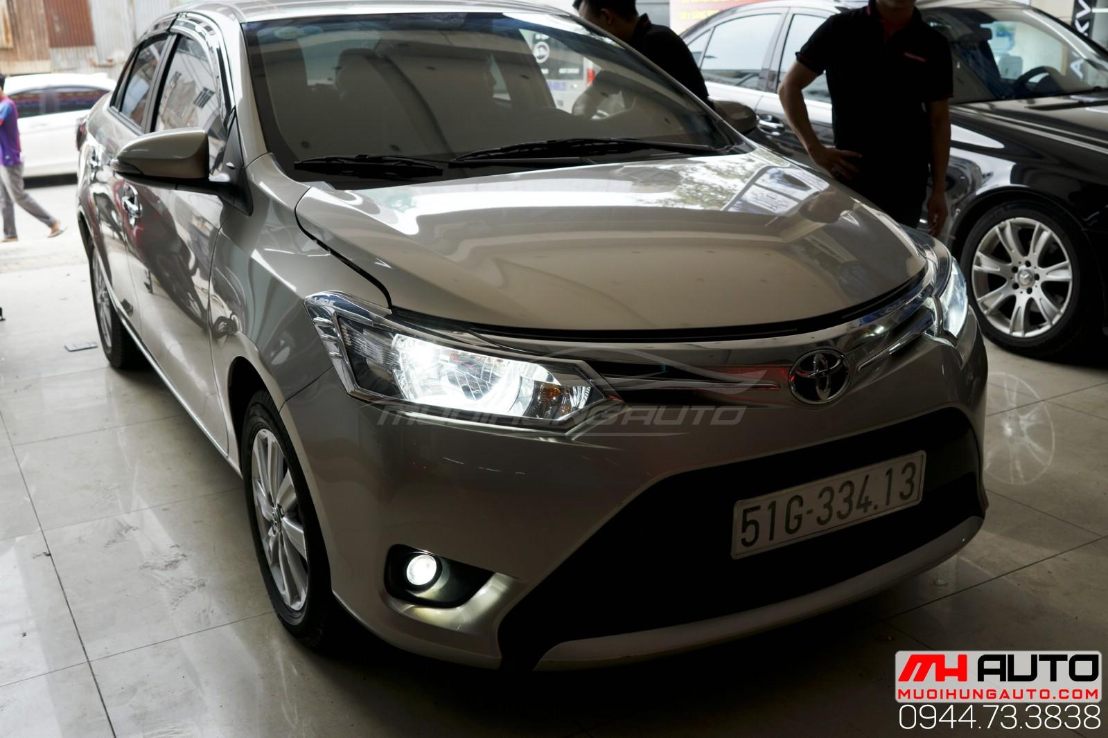 Độ bi xenon cản xe Toyota Vios 2018