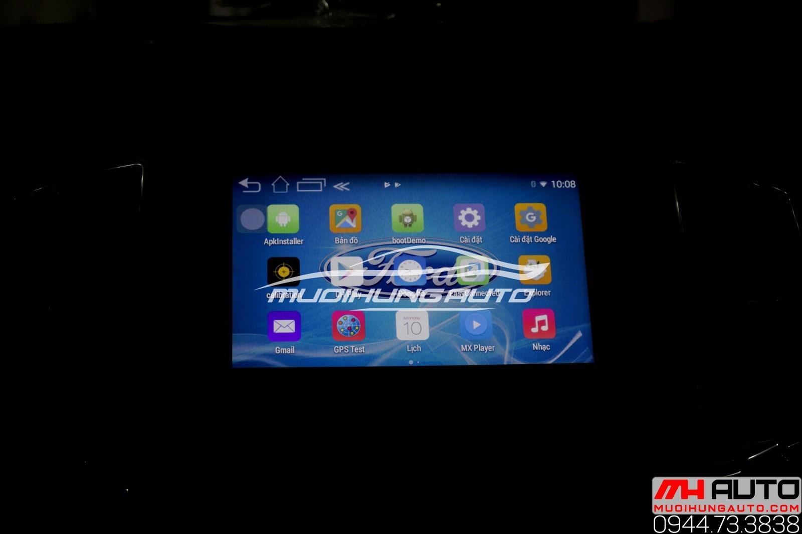 Màn hình DVD Android xe Ford Ranger Wildtrak 2018