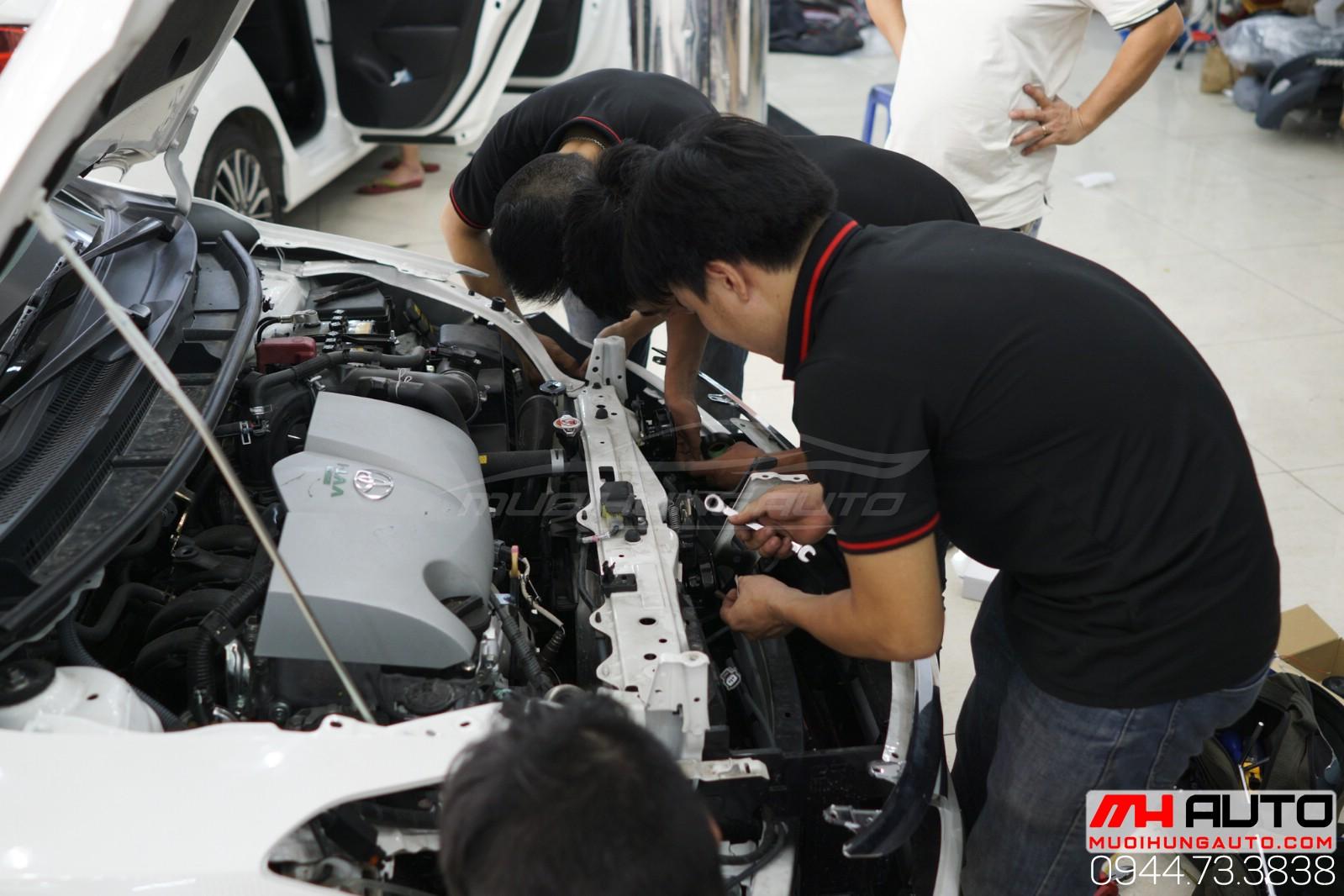 thợ độ bi xenon cản Toyota Vios