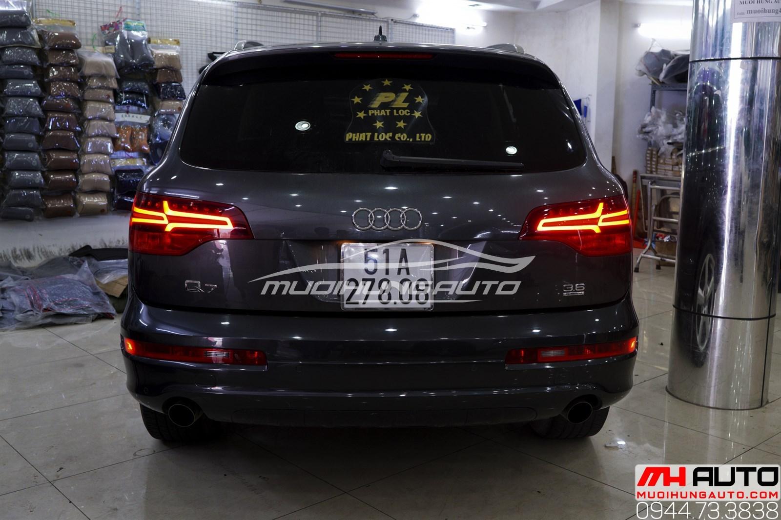 Độ led mí pha và led hậu Audi Q7 uy tín chuyên nghiệp tại TPHCM