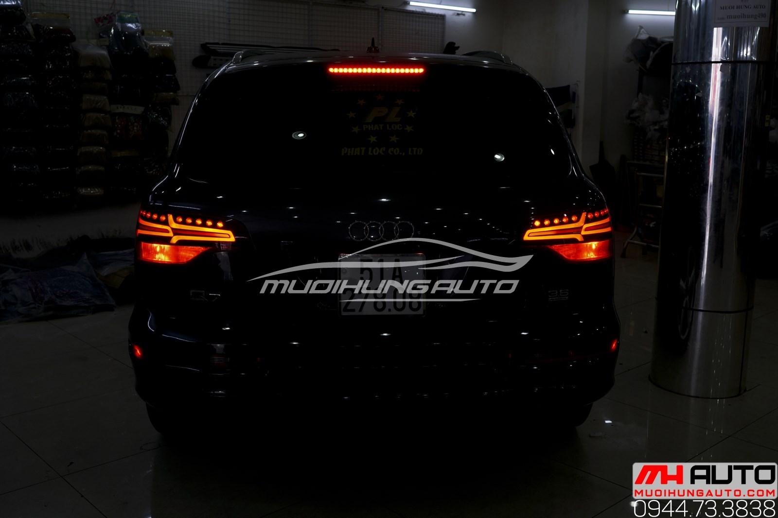 Độ led mí pha và led hậu Audi Q7 chuyên nghiệp TPHCM